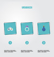 set of game icons flat style symbols with magic vector image