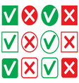 Set of icon consent and denial vector image