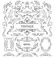 set of vintage swirls frames vector image vector image