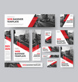set web banners different sizes vector image vector image