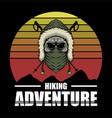 skull hiking adventure vector image vector image