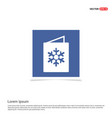 snowflake flat icon - blue photo frame vector image