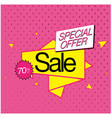 special offer sale 70 off ribbon pink background vector image vector image