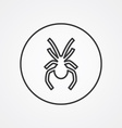 spider outline symbol dark on white background vector image vector image
