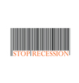 stop recession with bar code vector image