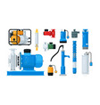 technical equipment for water pump system isolated vector image