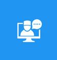 telemedicine online medical diagnosis icon vector image