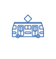 tramway line icon concept tramway flat vector image vector image