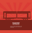 transport train vehicle design vector image
