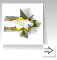 Triangulated arrow vector image vector image