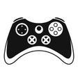 vintage gamepad icon simple style vector image