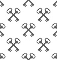 Vintage Key Silhouette Seamless Pattern vector image vector image