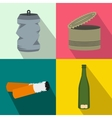 Waste banners set flat style vector image vector image