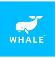 Whale logo abstract trendy flat style icon vector image