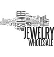wholesale silver jewelry text word cloud concept vector image vector image