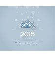 Christmas background snowflake vector image