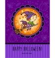 Childish Halloween card in vector image