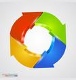 creative arrows circle refresh sign vector image