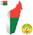 Republic of Madagascar Flag vector image