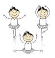 Cute little ballet dancers for your design vector image