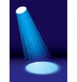 single spotlight vector image