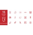 15 photographer icons vector image vector image