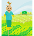 a farm in a beautiful nature vector image