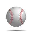 abstract baseball image with 3d baseball vector image vector image