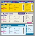 Airplane traveling tickets template vector image vector image