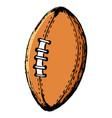 american football and rugball vector image vector image