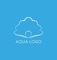 aqua logo shell logo abstract design vector image vector image