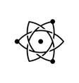 atom logo icon vector image vector image