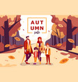 autumn sale with family and kids vector image