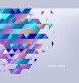 background with gradient colorful geometric shapes vector image vector image