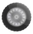 car wheel icon cartoon style vector image vector image