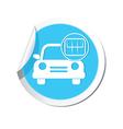 cars transmission BLUE LABEL vector image