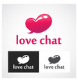 chat symbol vector image vector image