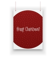 Chistmas Poster hanging on white Background vector image vector image