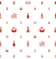church icons pattern seamless white background vector image vector image