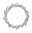 Circle of lavender flowers vector image vector image