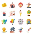 Circus icons flat set vector image vector image