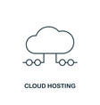 cloud hosting outline icon thin line style from vector image