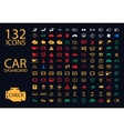collection of car dashboard panel vector image