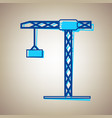 construction crane sign sky blue icon vector image vector image