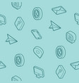 contact us outline isometric pattern vector image vector image