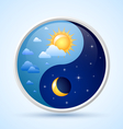 day and night symbol vector image