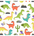 dino seamless pattern image vector image