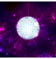 Disco Ball on Musical Background vector image vector image