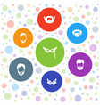 disguise icons vector image vector image