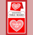 doodle for a wedding pointer to the main table vector image
